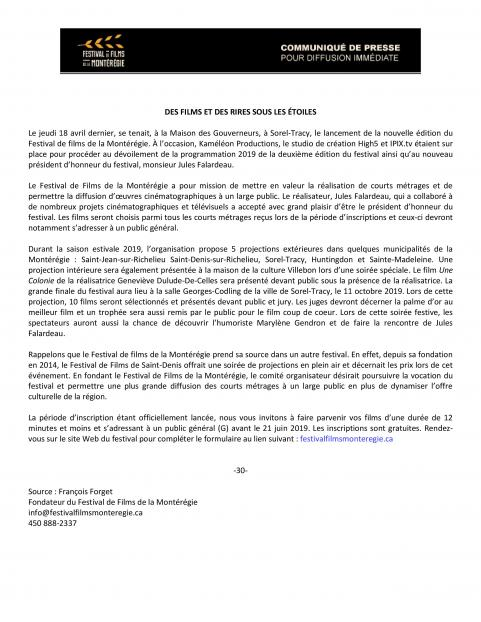 Communique de presse FFDLM 2e edition resume du point de presse page 2
